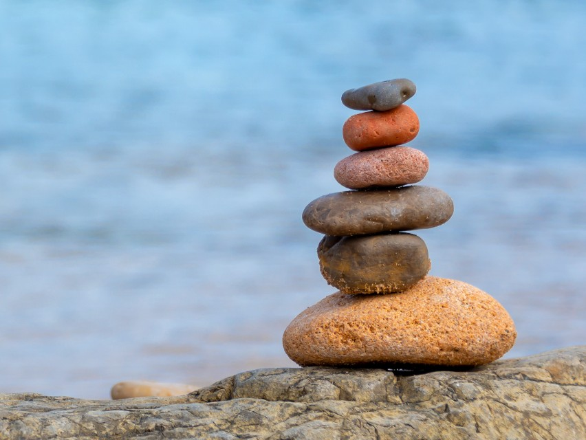 pebble stack in fife